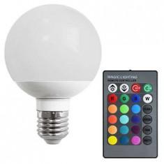 Bec LED E27 10W RGB Vipow cu telecomanda