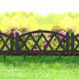 Cumpara ieftin Bordura Gardulet Decorativ Plastic pentru Gazon sau Flori, Dimensiuni 60x24cm, Negru