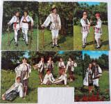 11 CARTI POSTALE ANII '60/'70 - PORT POPULAR ROMANESC