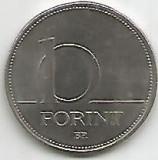 No(2) moneda-UNGARIA-10 FORINT1993, Asia