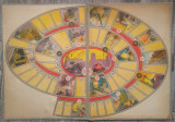 Plansa de joc de societate De la mina la masina, posibil perioada comunista