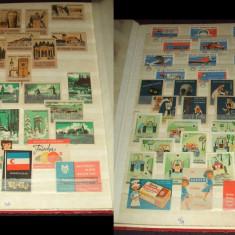 Clasor cu 450 etichete de chibrituri straine din anii 1950-1960-1970
