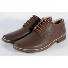 Pantofi maro de barbati/barbatesti din piele naturala (cod SPB01)
