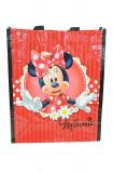 Plasa pentru cumparaturi cu imprimeu Disney Minnie Mouse D7002, Rosu