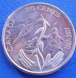 Monedă 25 cents 2017 Canada, Hope for a Green Future, America de Nord
