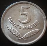 Moneda EXOTICA 5 FRANCI MALIENS - MALI, anul 1961   *cod 2245 - UNC