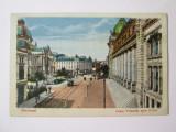Carte pos.necir.Bucuresti:Calea Victoriei spre posta cca.1915, Necirculata, Printata