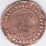 Moneda Tunisia 10 Centime 1914 - KM#236 Fine, Africa