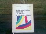 TEHNICA MASURARII. APARATE DE MASURAT IN INDUSTRIA LEMNULUI - ST. ALEXANDRU