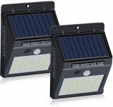 Set 2 Lampi Solare cu 30 LED, senzor de miscare si senzor de lumina