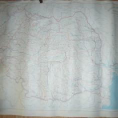 Harta Hidrografica a Romaniei scara 1:1oooooo 1971 Inst. Geodezie