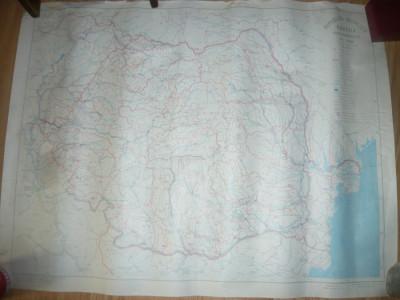 Harta Hidrografica a Romaniei scara 1:1oooooo 1971 Inst. Geodezie foto
