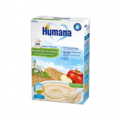 Cereale cu lapte, hrisca si mar Humana, 200 g, 6 luni+