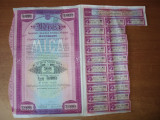 Cumpara ieftin ACTIUNE - MICA - SOC. ANONIMA ROMANA MINIERA - 5000 LEI 1936 TIMBRATA