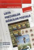 România, Lista preţurilor mărcilor poştale, 2009