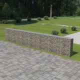 VidaXL Gabion perete cu capace, 600 x 30 x 100 cm, oțel galvanizat