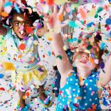 Confetti multicolore cu forma de baloane, 20 grame