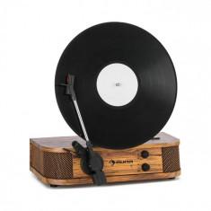 Auna Verticalo SE gramofon retro, USB, BT, linie de ieșire, lemn