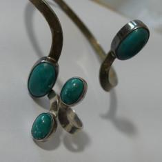 Set bratara si inel argint cu pietre naturale semipretioase -2518