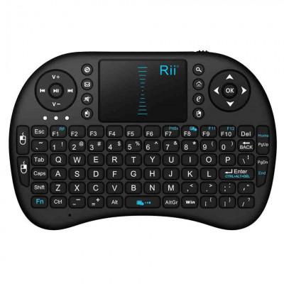 Mini tastatura rii wireless touchpad pentru xbox, ps, pc, notebook, smart tv foto