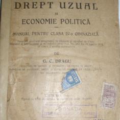 carte veche 1921 drept economie politica manual