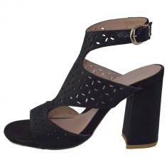 Sandale dama, din piele naturala, marca Stefano, 138592-42-135, bleumarin 37
