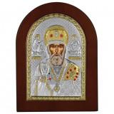 Cumpara ieftin Icoana argint Sfantul Nicolae 7.5×9.5cm COD: 3058