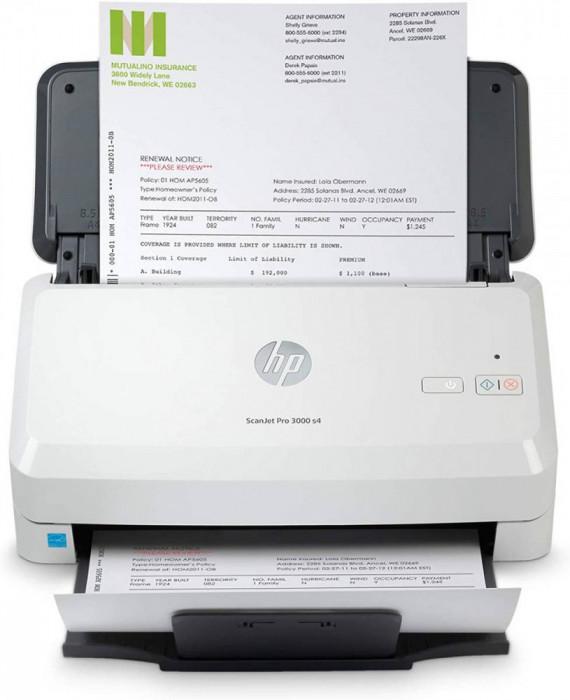 Scanner documente HP Scanjet Pro 3000 S4 USB A4 Alb