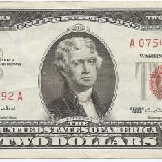 Statele Unite (SUA) 2 Dolari 1963 - (Serie Red-07545792) P-382