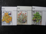 Serie timbre flora flori plante Belarus nestampilate timbre filatelice postale