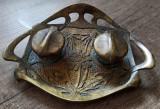 Calimara interbelica din bronz in stil art nouveau