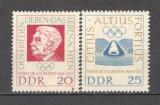D.D.R.1963 100 ani nastere baron Pierre de Coubertin  MD.170