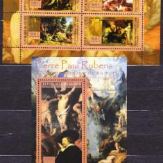 DB Arta Picturi Guineea Rubens MS + SS MNH