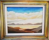 Tablou pictură M. A. IFRIM, Peisaje, Ulei, Avangardism