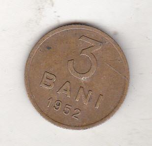 bnk mnd Romania 3 bani 1952 foto