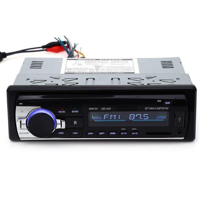 Radio MP3 Player Casetofon auto USB SD BT 4x60W Telecomanda cu Garantie 2ani