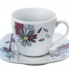 Serviciu cafea din portelan 12 piese, MN012755 Portelan