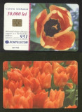 Romania 2001 Telephone card Flowers Rom 117 CT.098
