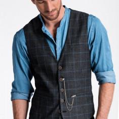 Vesta premium eleganta barbati V50 negru