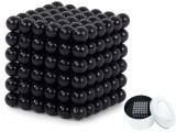 Joc Bile Magnetice NeoCube Antistres, 216 piese, Diametru Bile 3mm, negru