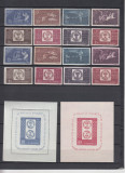 1958 LP 463 LP 463 a LP 464 LP 465 CENTENARUL MARCII POSTALE ROMANESTI MNH, Nestampilat