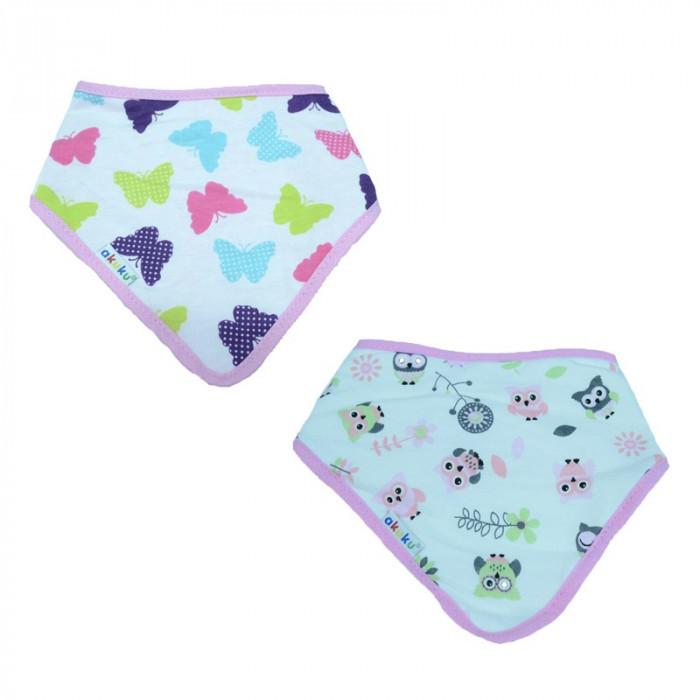 Set 2 bavete din bumbac pentru bebelusi Akuku A1465-R, Multicolor