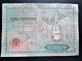 Reclama veche: Sampanie Andrenyi, Arad 1913. Ca o bancnota de 100 Korona