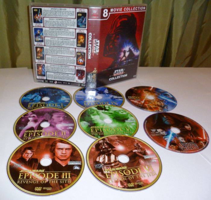 Star Wars COLLECTION Episode I -VIII 1977-2005  DVD