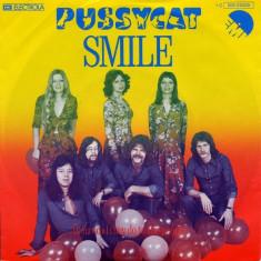 "Pussycat - Smile (1976, EMI) Disc vinil single 7"""