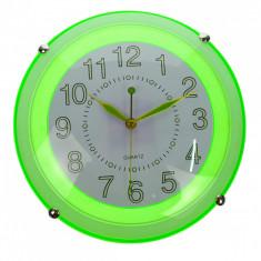 Ceas de perete, verde, diametru 30 cm - CEAS01