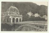 cp Herculane : Baia Regina Maria - circulata 1923, timbre