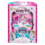 Set 3 bratari animalute unicorn, lama si surpriza Twisty Petz
