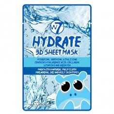 Masca Hidratanta cu Acid Hialuronic Colagen si Ceai verde W7 Hydrate 3D Sheet Mask 18 g