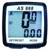 Kilometraj Digital AS 888 8 Functii Cu Fir Negru/AlbPB Cod:MXBAC0400